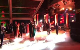 Irina Tanase si Liviu Dragnea dansand la nunta
