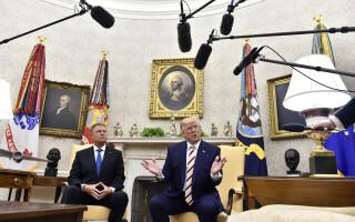 Klaus Iohannis a fost primit de Donald Trump la Casa Albă