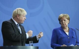 Angela Merkel si Boris Johnson