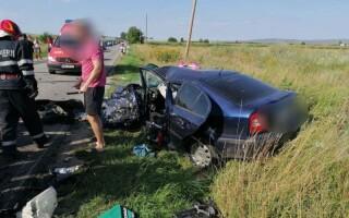 Accident cu trei mașini în Sibiu. Sunt 5 răniți, printre care și un copil de 7 ani