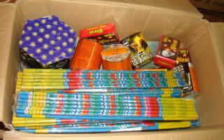 pirotehnice confiscate