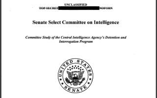 Fragment din raportul Senatului SUA despre activitatea CIA