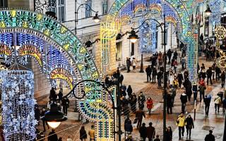 Sibiu, lumini, Craciun - 2