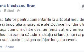 postare stearsa Tatiana Niculescu Bran