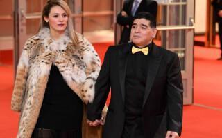 Maradona si iubita sa