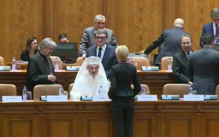 Patriarhul Daniel in Parlament
