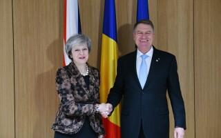 Klaus Iohannis, Theresa May