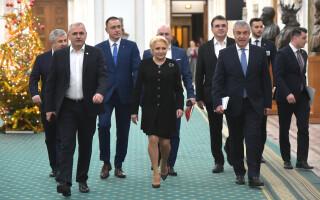 Liviu Dragnea, Viorica Dancila, Calin Popescu Tariceanu, PSD