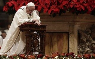 Papa Francisc la slujba din Ajunul Craciunului