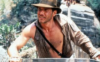 "Harrison Ford în ""Indiana Jones și Templul Blestemat"""