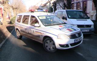 strada blocata, politie