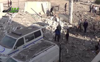spital siria bombardat, agerpres