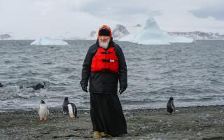 patriarhul Kiril si pinguinii