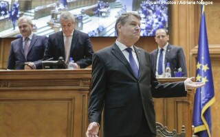 Klaus Iohannis, discurs in Parlament