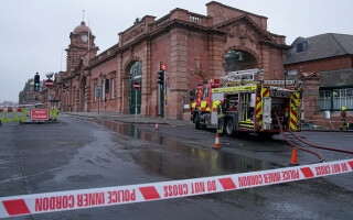 Incendiu la gara din Nottingham.