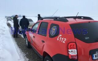 Bătrân găsit îngheţat, pe un drum din Botoşani
