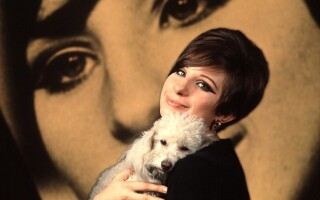 Barbra Streisand cu cainele ei
