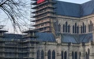 rusia, steag, catedrala, Salisbury