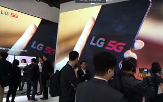 standul LG de la Mobile World Congress 2019