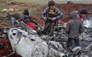 Avion doborat Siria - 2