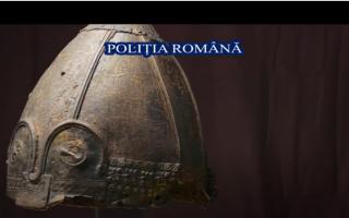 Coif de origine vikingă, unic în România, recuperat de polițiștii din Iași. Are o valoare incomensurabilă