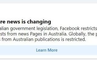 Facebook a blocat distribuirea de ştiri în Australia