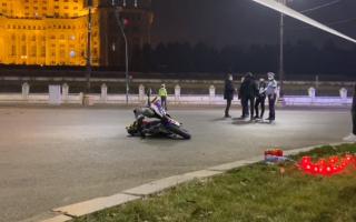 Accident grav în fața Parlamentului. Un motociclist a murit după impactul cu o maşină