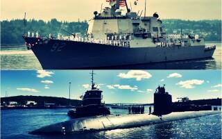 Distrugator si submarin