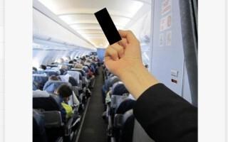 semn indecent facut de o stewardesa