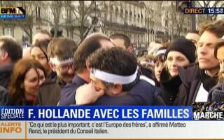 Francois Hollande, rudele victimelor