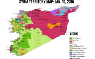 Harta a teritoriilor Statului Islamic