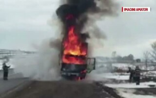 camion care a luat foc