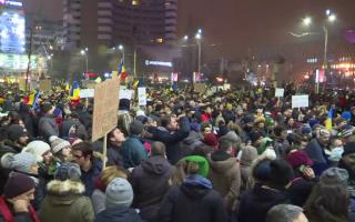 Proteste in Capitala impotriva ordonantelor de urgenta