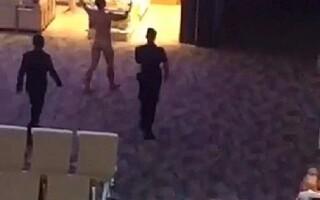barbat gol pe aeroport