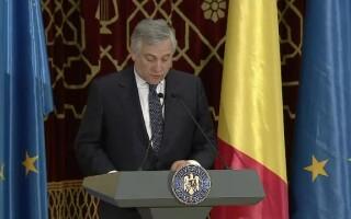 Antonio Tajani a ţinut joi seară un discurs la Ateneu