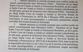 decizia CCR in privinta protocoalelor