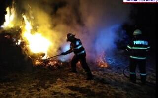 O mână criminală a provocat un incendiu în comuna argeșeană Mihăești. Anchetatorii caută făptașul