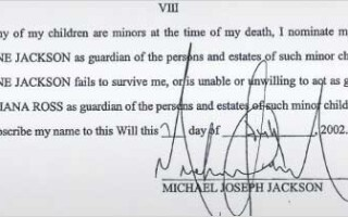 testament Michael Jackson