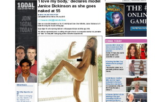 Janice Dickinson, nud in Closer Magazine la 55 de ani