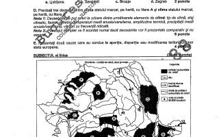 BAC 2011: SUBIECTELE LA GEOGRAFIE