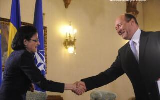 Ecaterina Andronescu si Traian Basescu