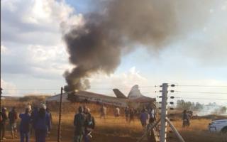 Avion prabusit Africa de Sud