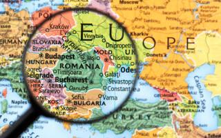 harta romania bulgaria