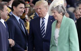 Justin Trudeau, Donald Trump, Theresa May