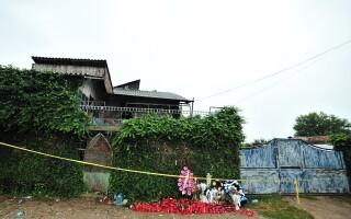 Casa inculpatului Gheorghe Dinca, din municipiul Caracal, jud Olt