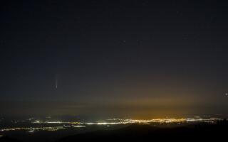 Imagini spectaculoase cu cometa NEOWISE au fost surprinse în Păltiniș