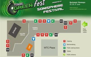 Harta de acces la Sonisphere