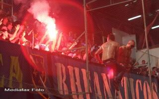 Suporterii bosniaci la meciul cu Romania