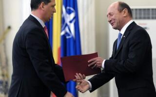 Traian Basescu, Gabriel Berca - AGERPRES