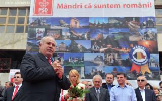 Ion Calinoiu, presedintele CJ Gorj, participa la mitingul electoral de prezentare a candidatilor Aliantei PSD-UNPR-PC pentru Parlamentul European FOTO AGERPRES